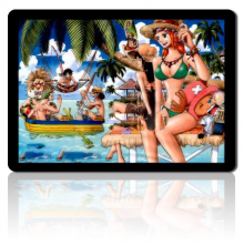One Piece Chopper Nami mouse pad