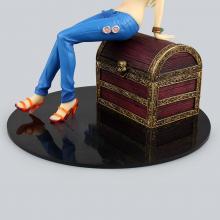 Sexy Nami Sitting on Treasure Box Figure