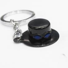 One Piece Sabo Hat Keychain