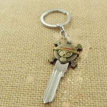 One Piece Luffy Straw Hat Skull Double Pendants Keychain