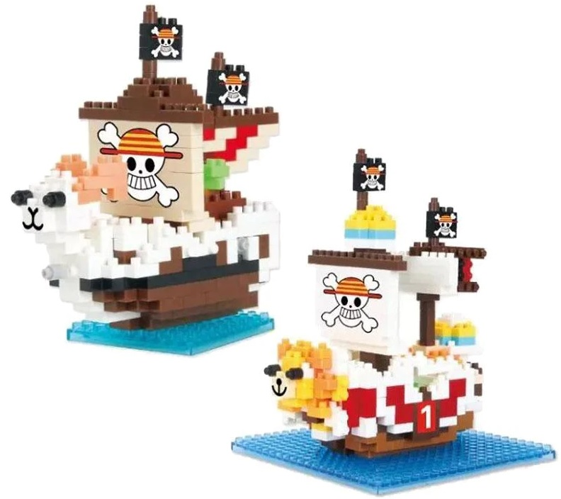 Thousand Sunny Chariot One Piece Pirate Ship Going Merry Building Blocks