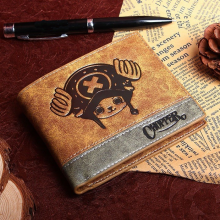 One Piece Brown PU Leather Wallet