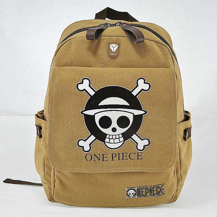 One Piece Luffy printed canvas Backpack Bag