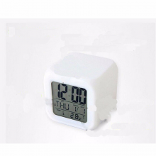 One Piece 7 Color LED flashing Alarm Clock