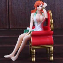 One Piece Sexy Nami Figure Sitting Sofa 15cm