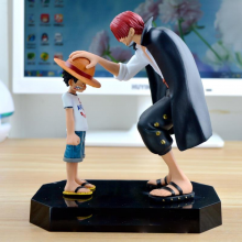 One Piece Straw Hat Child Luffy Shanks Figure 17.5cm