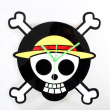 One Piece Luffy Skull Clock