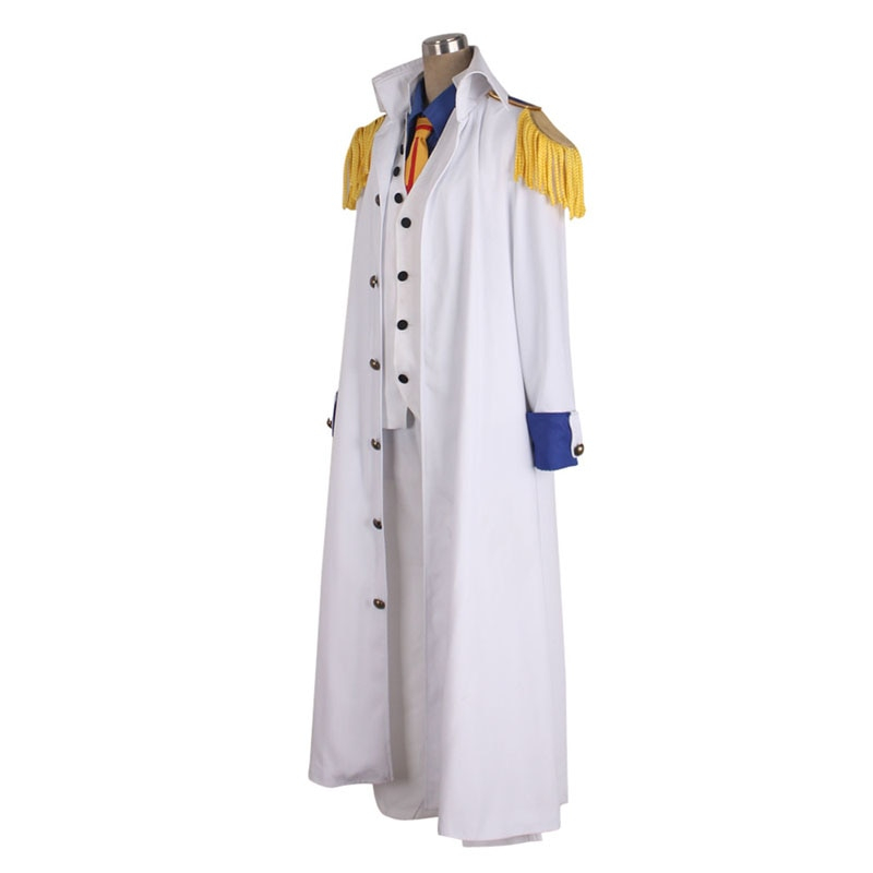 One Piece Aokiji White Cosplay Costume