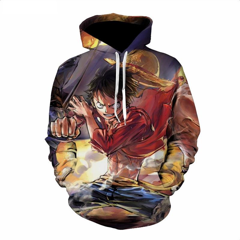One Piece 3D Print Luffy Hoodie Sweatshirt