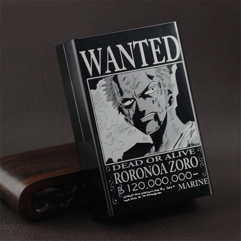 One Piece Wanted Luffy Ace Zoro Aluminium Cigarette Case Box