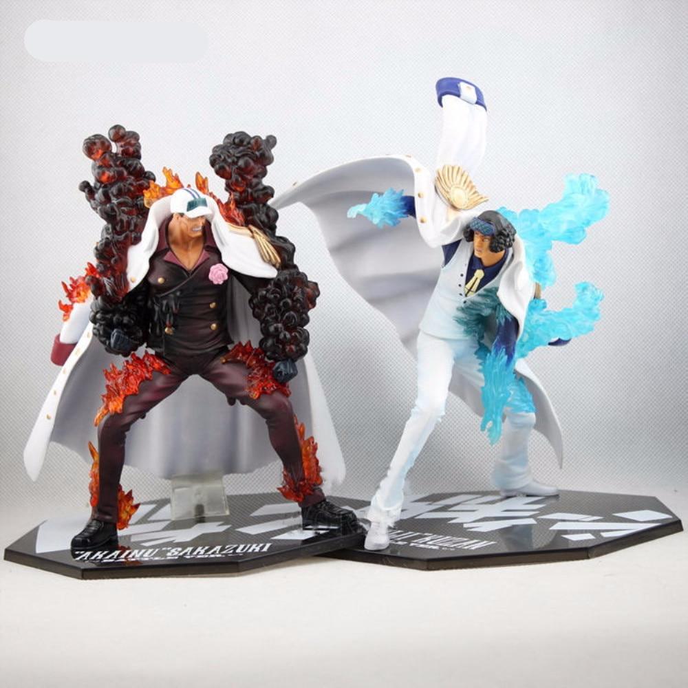 One Piece Anime Figure Aokiji Kuzan Figure Akainu Sakazuki Battle Ver. Figurine PVC Action Doll Hot Toys For Children Model