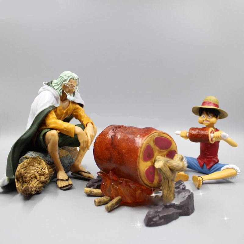 Silvers Rayleigh Luffy scene faction figure Eating meat