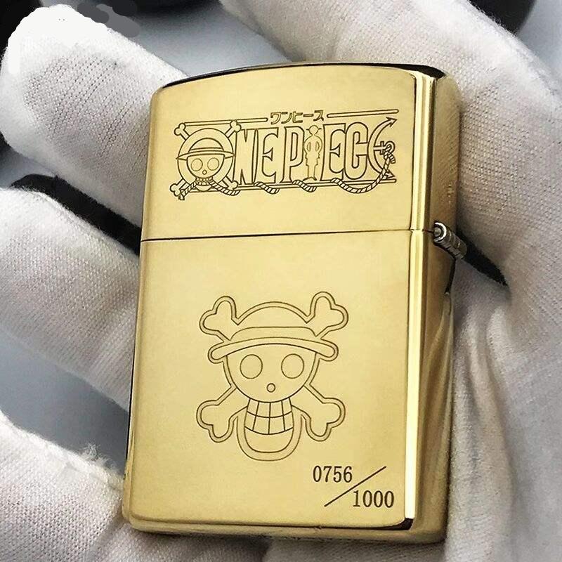 Zorro Kerosene Lighter Pure Copper Carving Classic Cartoon Character Pattern Gasoline Lighter Men Gift Outside Tool.